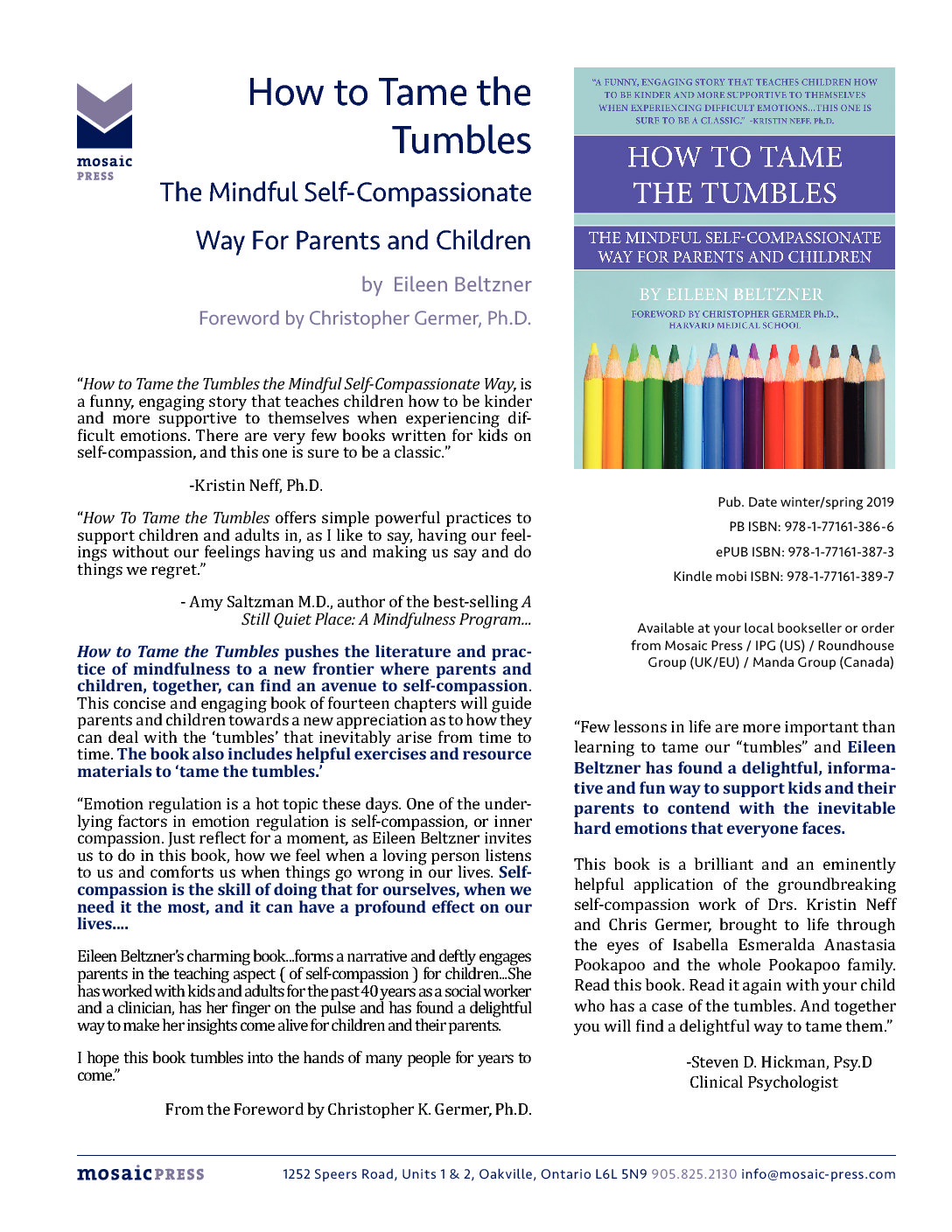 Books by Eileen – MSC – Mindful Self-Compassion Training and